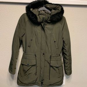 Andrew Marc faux fur lined coat. Marc New York